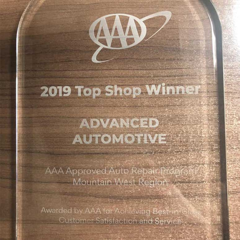 AAA Top Shop 2019 Award